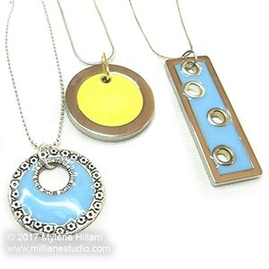 Trendy pastel resin pendants
