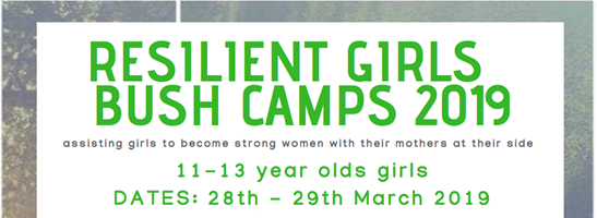 Resilient Girls Bush Camp 11-13th October 2019 - Sticky Tickets